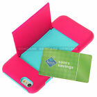 Heavy Duty Hidden ID Card Cover Hybrid Case With Kickstand For Apple iPhone 6