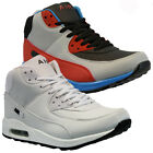 NEW MENS HI TOP RUNNING TRAINERS CASUAL LACE GYM WALKING BOOTS SPORTS SHOES SIZE