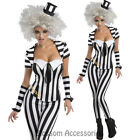 CL163 Mrs Beetlejuice Corset Outfit Fancy Dress Licensed Halloween Costume