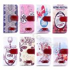 1×For Multi Cellphone Retro Vintage Pattern Leather Case Hard Wallet Stand Cover