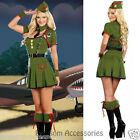 I60 Ladies Military FBI Army Cadet Soldier Camo Uniform Fancy Dress Up Costume