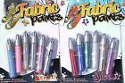 GRAFIX 6 FABRIC PAINT PENS GLITTER OR METALLIC FINISH T-SHIRTS CLOTHES TEXTILES