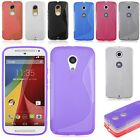 S-Line Soft Flexible  Silicone Gel TPU Back Case Cover Skin for Motorola Phone