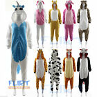 ONESIE Adult Pyjamas All In One UNISEX Sleepsuit Romper ANIMAL ZOO FANCY DRESS