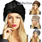 Ladies Womens Faux Fox Fur Russian Cossack Style Winter Hat