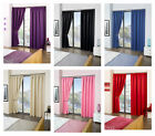 "Cali ECO Thermal Blackout Tape Top Curtains 65"" Width x 90"" Drop"