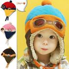Toddlers Baby Boy Girl Kids Infant Cute Winter Warm Pilot Aviator Cap Hat Beanie