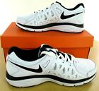 Nike Dual Fusion Run 2- Wht/Blk Leather & Synthetic Mens Athletic Shoe  - NWD*