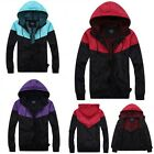 Men's Hoodie Windbreaker Jackets Windproof Hiking Running Outdoor Coat 3 Colors