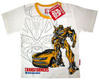 Boys TRANSFORMERS BUMBLEBEE white cotton summer t-shirt S-XL Age 3-8y Free Ship
