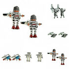 RETRO 50s Style Sci-Fi Novelty Cufflinks Robby The Robot/Ray Gun/Spaceman/Planet