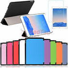 Flip Folio Smart Case Cover Tempered Glass Screen Protector For Apple iPad Air 2