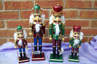 Wooden Christmas Nutcracker Ornament, large or medium, 2 different colours