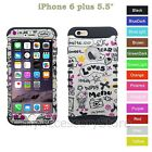 For iPhone 6 Plus 5.5 Love Design Hard & Rubber Hybrid Rugged Impact Case Cover