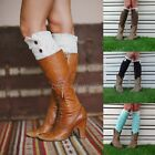 Women's Beautiful Bohemian Knit Lace Leg Warmers Boot Socks Boot Cover 2015 NEW