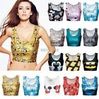 Tunic Sexy Crop Top Vest Midriff Shirt Blouse Tank Tops Cami 15 Color New K0E1