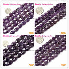 "New Oval Faceted Amethyst Gemstone Jewelry making Beads Strand 15"" Size Select"
