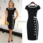 Womens Business Party Cocktail Pencil Dress OL Ladies Bodycon Dress Bandage Dres
