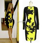 Womens Sexy Round Neck Bodycon Business Office Slim Party Cocktail Pencil Dress