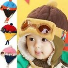 Cute Beanie Hat Toddler Baby Boy Girl Kids Infant Winter Warm Pilot Aviator Cap