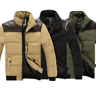 Winter Men Warm Slim Collar Thick Cotton Padded Short Parka Coat Outwear Jacket