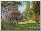 Parc Monceau, Paris Claude Monet Painting Repro Stretched Canvas Fine Art Print