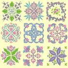 Anemone Quilt Squares 5 Machine Embroidery Designs CD-Anemone Embroidery Designs