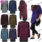 Womens Ladies Cut Out Slit Stripe Chunky Knitted Oversized Pullover Jumper Dress
