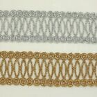 "1.5"" Metallic Rayon Embroidery Lace Trim Metallic Bridal wedding Lace Unique"