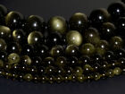 Natural A grade golden obsidian round beads strand 4mm to 18mm 15.5""