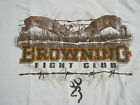 Browning  fight club hunting  T-Shirt mens  deer fighting new look