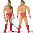 CL189 Mens He-Man Prince Adam Master of the Universe Super Hero Costume + Sword