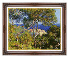 Framed Bordighera Seascape Claude Monet Painting Reproduction Canvas Art Print