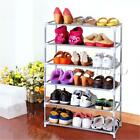 Multi Tiers Metal Shoes Shelf Storage Organizer Rack Holder Fabric Stand Closet