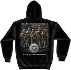 Black Hooded Sweatshirt with USMC Marine Corps A Few Become Brothers Design