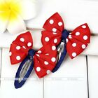 2pc Girls Kids Hairpin Hair Clips Hair Accessories Bowknot Dots Jewelry Gift