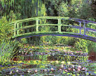Water Lilies and Japanese Bridge by Claude Monet Canvas Art Print Painting Repro