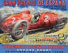 AZ37 Vintage 1950's Spanish Grand Prix Racing Advertisement Poster A2/A3/A4