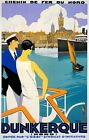 TX360 Vintage Dunkerque Dunkirk France French Travel Poster Broders Print A3/A4