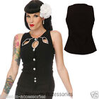 RKV2 Voodoo Vixen Black Cut Out Sleeveless Rockabilly Pin Up Vintage 50s Retro