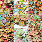 50/100pcs MultiPattern Animal Wooden Fit Scrapbook Craft Clothing Sewing Buttons
