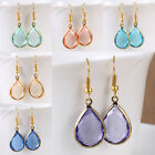 New Elegant Crystal Dangle TearDrop Earrings Color Wedding Party