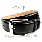 "New Stylish MENS FULL GRAIN BLACK LEATHER BELT1.35""  OLLYs Design CAMBRIDGE"