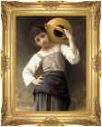 Framed Wall Art Print Young Girl Going to the Fountain William Bouguereau Repro
