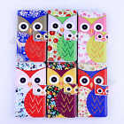 For Multi Cellphone Owl Wallet Stand Shockproof Defender Cover Leather Card Case