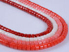 6x4mm Multi-color coral heshi loose beads 15.5""