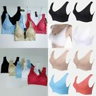 Women's Yoga Fitness Workout Tank Top Seamless Padded Lace/Plain Brim Sports Bra