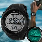 SKMEI Men's Rubber Band LED Digital Sports Waterproof Diving Quartz Wrist Watch