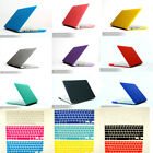 "Matte Hard Case Keyboard Screen Protector Fr Mac Book Air 11"" Pro 13"" 15"" retina"