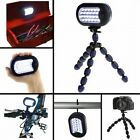 Grippit Flexible Spider Tripod w/ LED Magnetic Hook Light Hang Grip Camera
